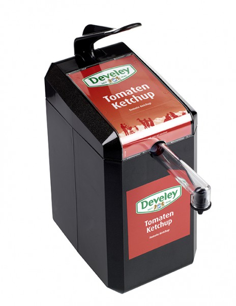 Develey Food Service 1er Dispenser Schwarz für 5kgDispenserbeutel